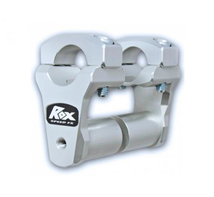 "ROX 2"" Pivoting Bar Risers for 1 1/8"" Handlebar (with Extended Stem). Fits 28mm handlebars"