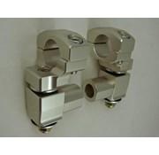 "RoxFXspeed - ROXrisers ROX Anti-Vibration Elite Pivoting Handlebar Risers 2"" Rise x 1 1/8"" Handlebar Clamp x 1 1/8"" Handlebar (28mm handlebar)"