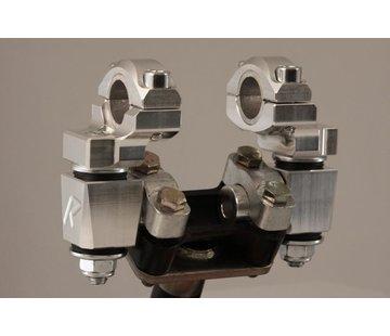 "RoxFXspeed - ROXrisers ROX Anti-Vibration Elite Pivoting Handlebar Risers 2"" Rise x 7/8"" Handlebar Clamp x 7/8"" or 1 1/8"" Handlebar (22 & 28mm handlebar)"