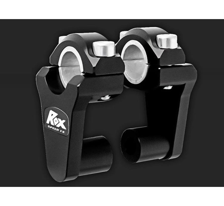 "ROX Elite Pivoting Handlebar Riser 2"" Rise x 7/8"" Handlbar Clamp x 7/8"" or 1 1/8"" Handlebar"