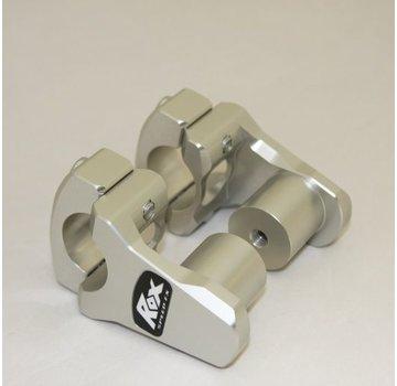 """RoxFXspeed - ROXrisers ROX Pivoting Handlebar Riser 1 3/4"""" Rise x 1 1/8"""" Handlebar Clamp x 1 1/8"""" Handlebar (28mm handlebar)"""