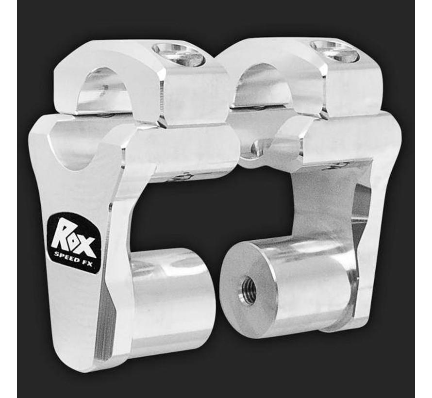 "ROX Pivoting Handlebar Riser 2"" Rise x 1 1/8"" Handlebar Clamp x 1 1/8"" Handlebar"