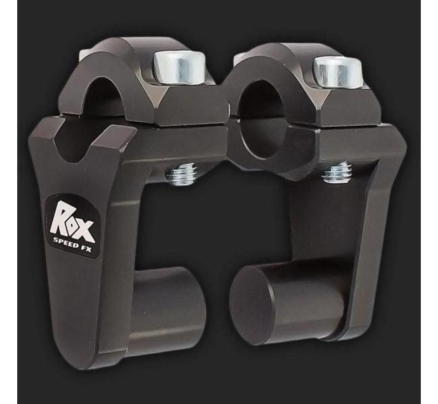 "ROX Pivoting Handlebar Riser 2"" Rise x 7/8"" Handlebar Clamp x 7/8"" Handlebar"