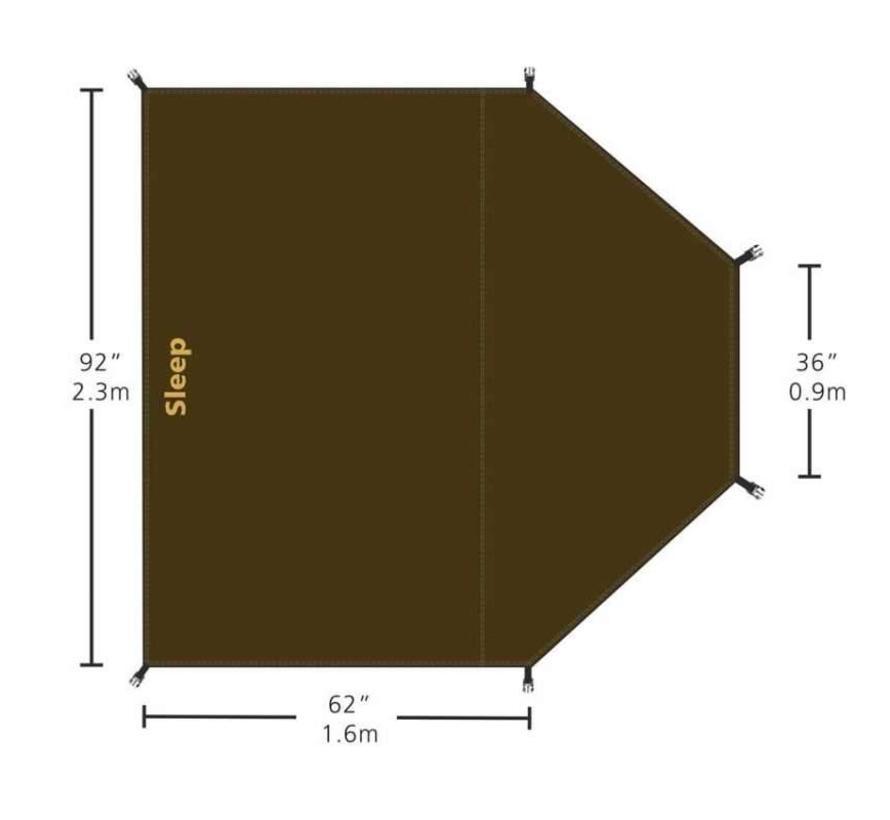 Redverz Grondzeil voor de Atacama Tent (Slapen)