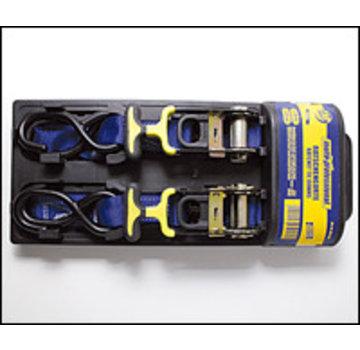Spanriem met haken - 300cm - met opspanratel - SET VAN 2