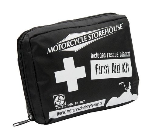 Motorcycle Storehouse MCS First Aid kit - Especially composed for motorcycle use