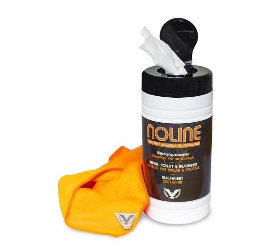 Noline - 80 Cleaningtowels + microfiber cloth