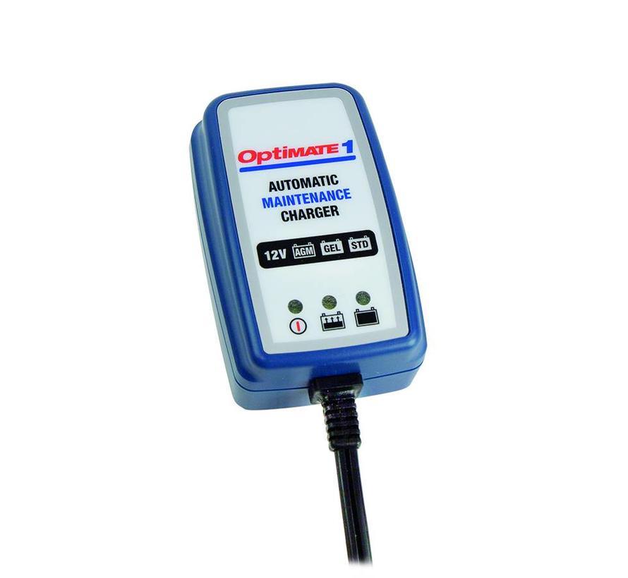 OptiMate 1 Global / 4-stap 12V 0.6A Batterijlader/druppellader
