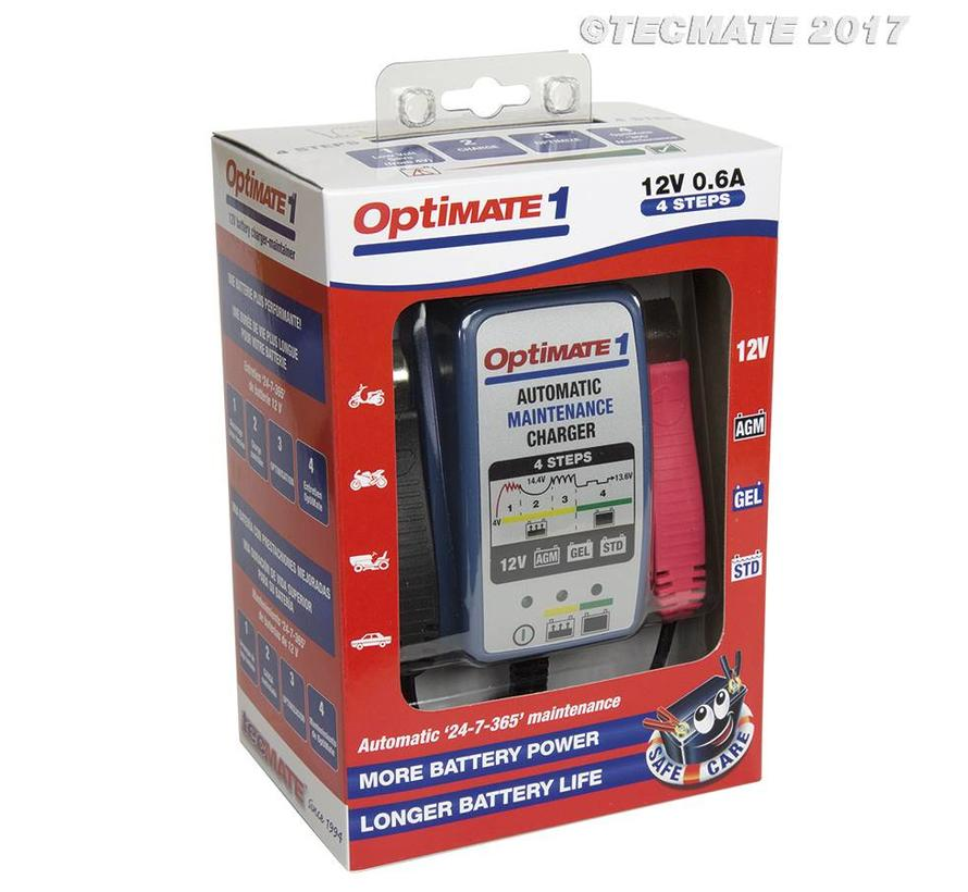 OptiMate 1+ / 4-step 12V 0.6A Battery charger-maintainer