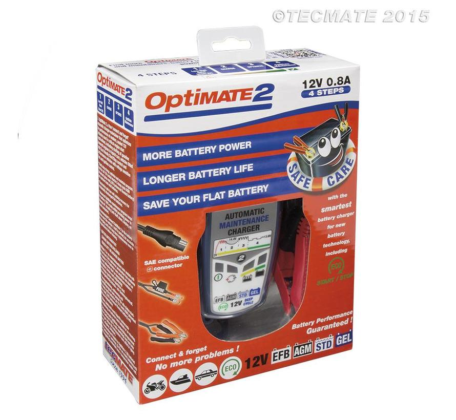 OptiMate 2 / 4-step 12V 0.8A Battery charger-maintainer
