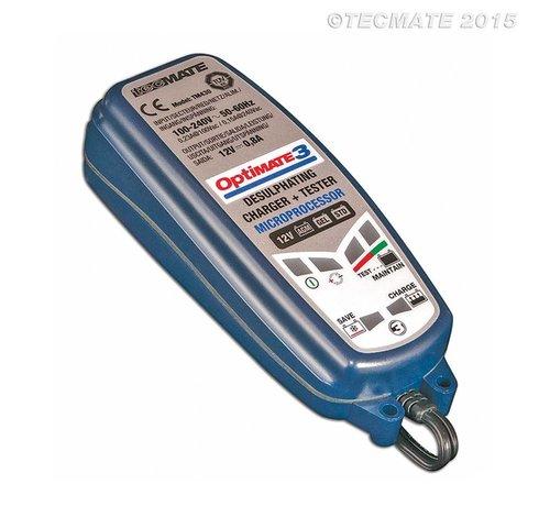 OptiMate OptiMate 3 / 7-staps 12 V 0,8 A accubesparende lader, tester en onderhouder