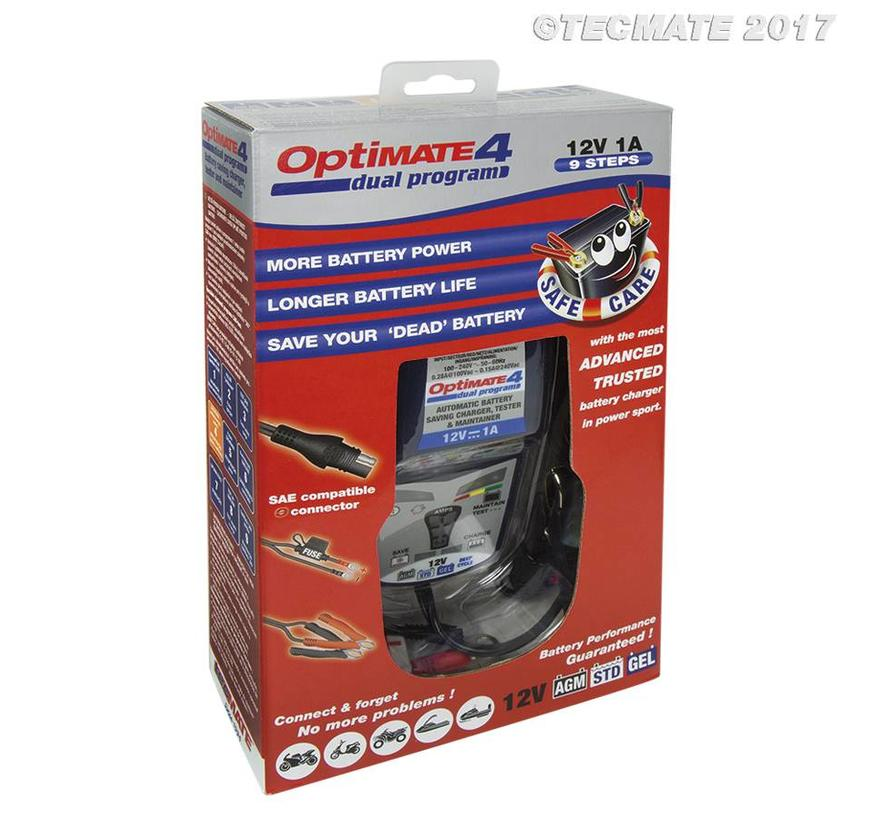 OptiMate 4 Dual Program / 9-step 12V 1A Battery Saving charger-tester-maintainer
