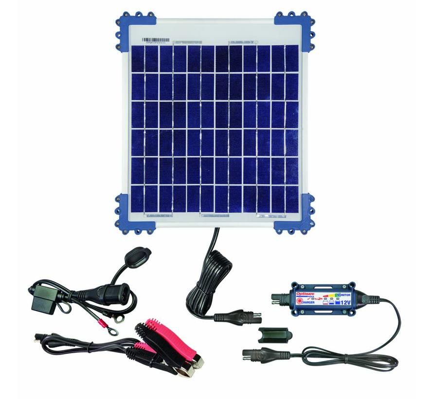 OptiMate SOLAR 10W 12V Kit / Solar Pulse Charger, Tester & Maintainer for 12V batteries, with 10W solar panel