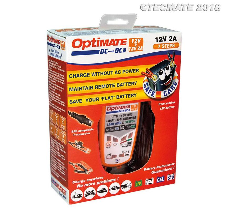 OptiMate DC naar DC / 12V accu naar 12V - 13.2V acculader, DC voeding