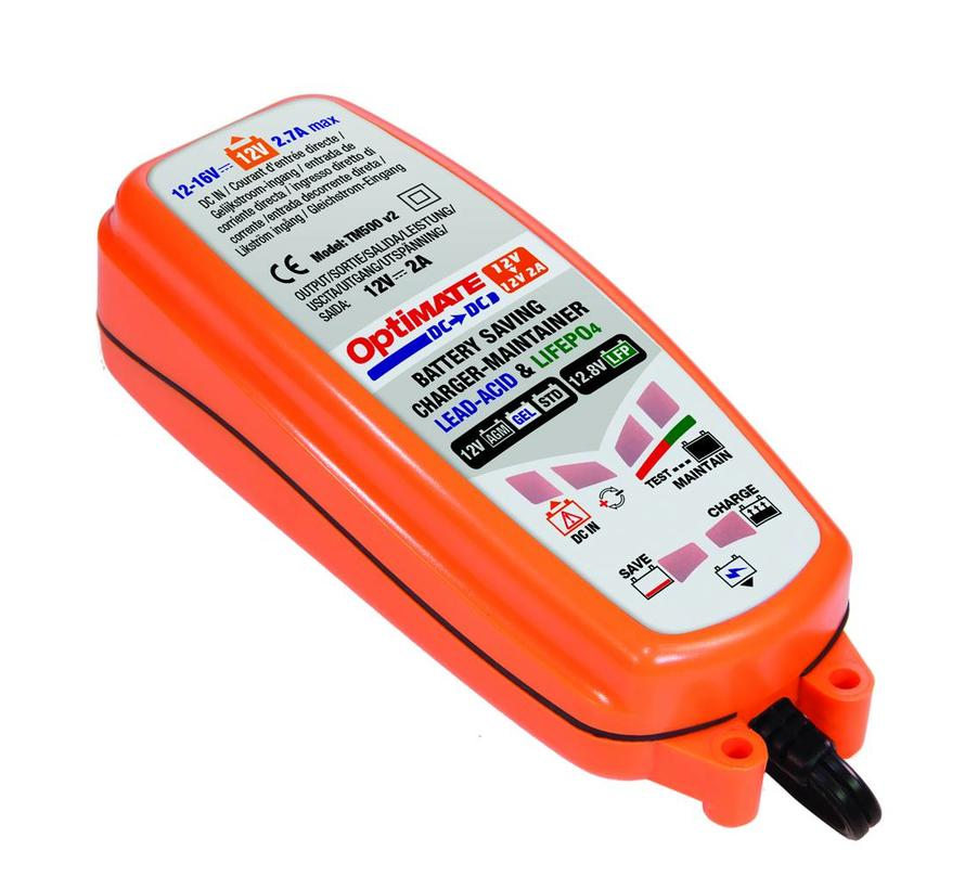 OptiMate DC to DC / 12V Battery, DC supply to 12V (lead acid) or 12.8-13.2V (LFP-Lithium) Battery Charger