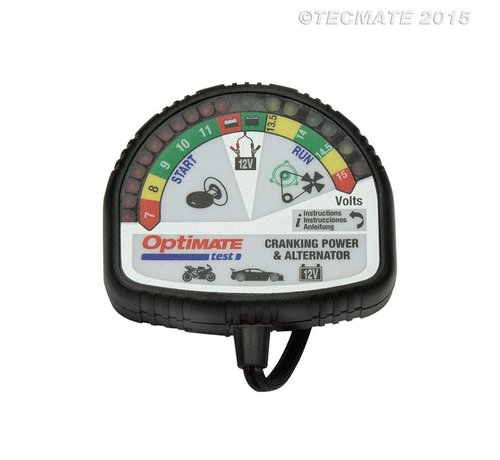 OptiMate OptiMate TEST – Batterij, laadsysteem & alternator tester / 12 V-tester voor accustatus laden, startprestaties en voertuiglaadsysteem.