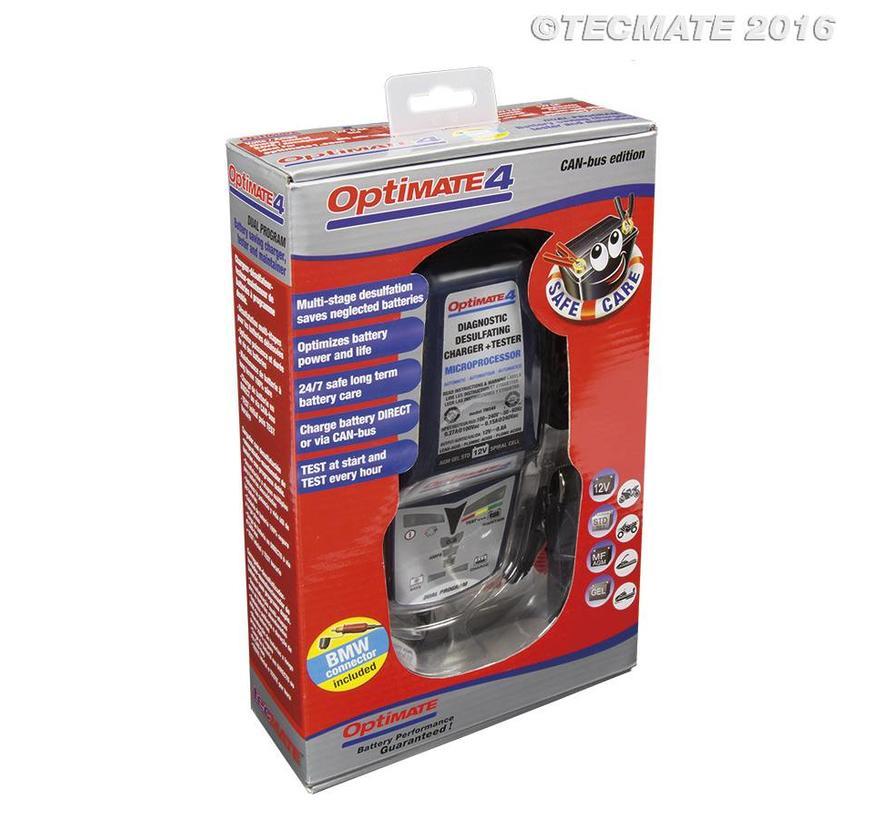OptiMate 4 CAN-bus editie / 8,9-staps 12 V 1 A accubesparende lader, tester en onderhouder