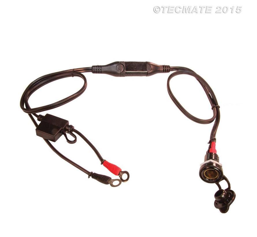 OptiMate CABLE O-08 / Standaard MOTOR-contact, met accukabel
