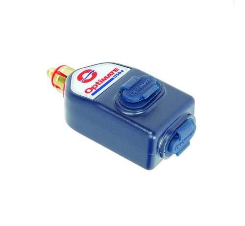 OptiMate OptiMate USB O-115 / 3300mA dual output weatherproof USB charger, with BIKE plug