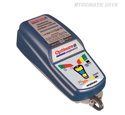 OptiMate OptiMate 6 Ampmatic / 9-staps 12 V 5 A accubesparende lader, tester en onderhouder
