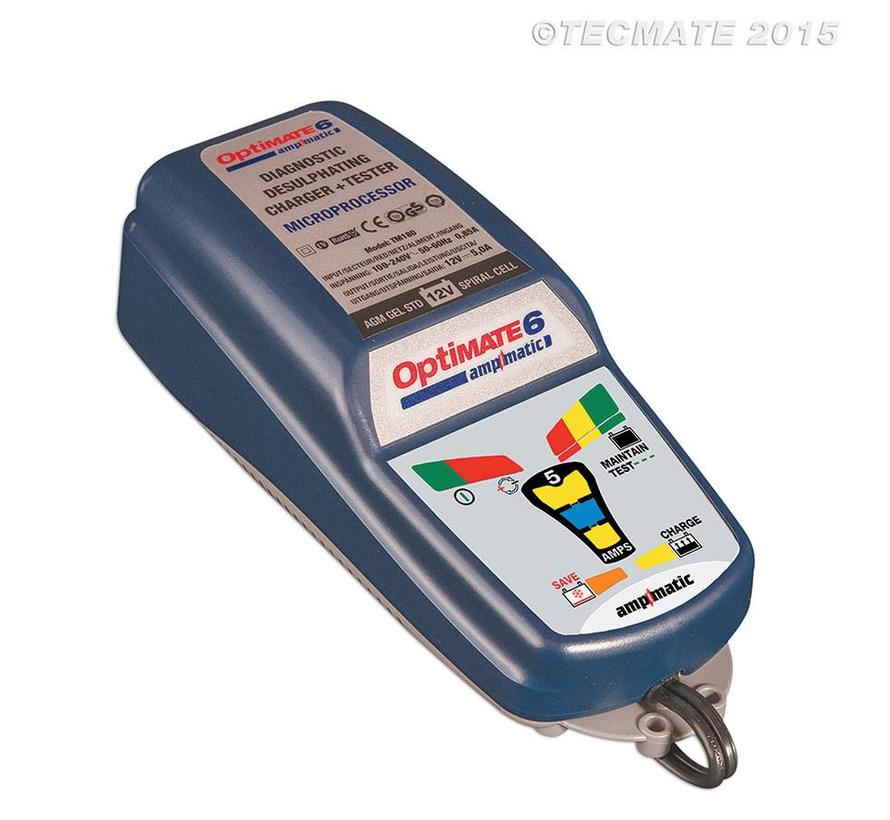 OptiMate 6 Ampmatic / 9-step 12V 5A Battery Saving charger-tester-maintainer