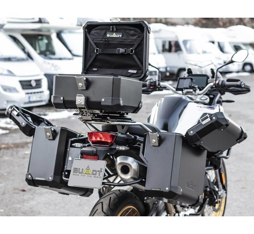 BUMOT Defender EVO topkoffer voor BMW F850 GS / GSA + Montageplaat
