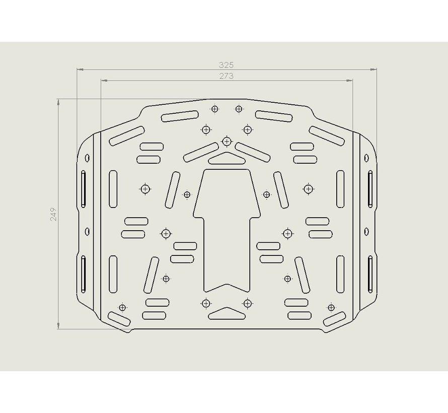 Perun Moto Extension plate voor het KTM 690 Enduro Luggage rack SD (2008-2018)