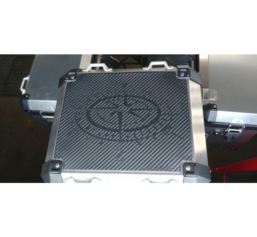 RubbaTech - Topkoffer Pad voor BMW Aluminium Original Topkoffer
