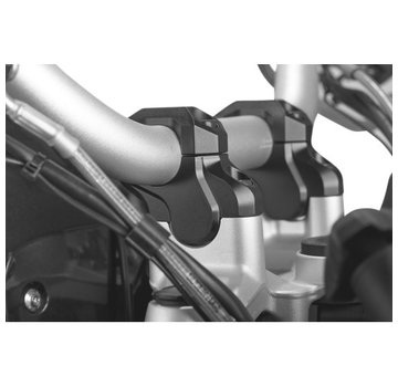 SW-Motech SW-Motech Handle bar riser 32mm - To fit models with 32mm handlebar- Black (Bar Back model)