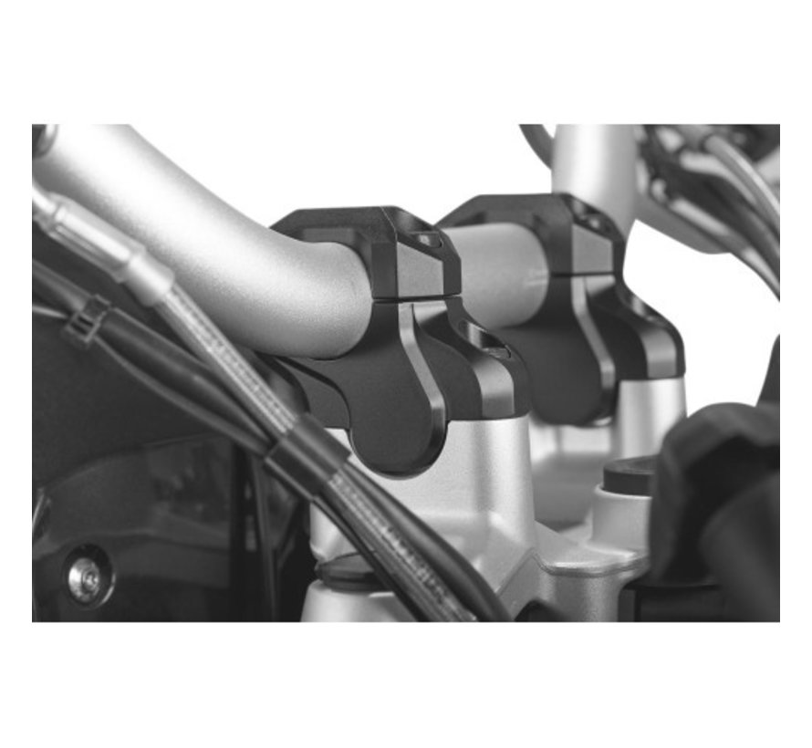SW-Motech Handle bar riser 32mm - To fit models with 32mm handlebar- Black (Bar Back model)
