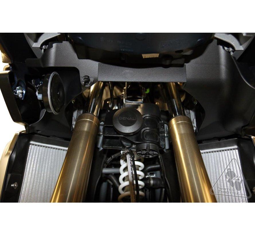DENALI Soundbomb Horn Mount BMW R1200GS(A)/1250GS(A) Liquid Cooled!