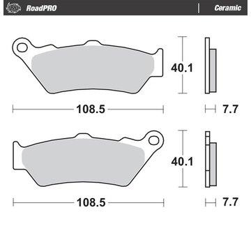 Moto-Master Moto-Master Brake pads RoadPRO - Ceramic
