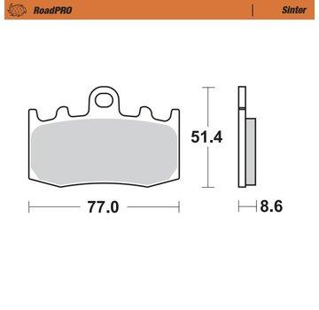 Moto-Master Moto-Master Remblokken RoadPRO - Sinter - Vooraan - R 1150 GS (A) / R 1200 GS (A)