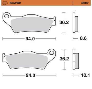 Moto-Master Moto-Master Remblokken RoadPRO - Sinter - Achteraan - R 1100 GS / R 1150 GS (A) / R 1200 GS (A)