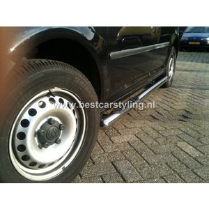 VW Caddy Sidebars 76 mm met steps