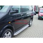 VW T5 T6 Sidebars buis 60 mm met aluminium trede (set van 2 stuks)