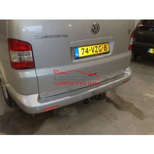 VW T5 Achterbumperbeschermingsplaat RVS
