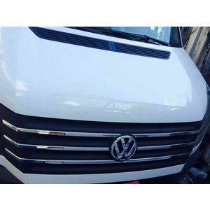 VW Chrome grille lijsten voorgrill VW CRAFTER va Bj.2012 RVS 6 delig