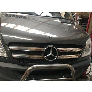 Mercedes-Benz Chrome grille lijsten voorgrill MB Sprinter 906 RVS 4 delig 2006-2012