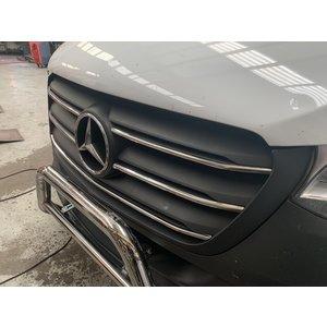 Mercedes-Benz Chrome grille lijsten voorgrill MB Sprinter W907 RVS 5 delig vanaf 2018