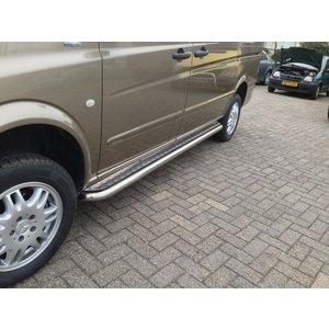 Mercedes-Benz Sidebars buis 60 mm met aluminium trede (set van 2 stuks)