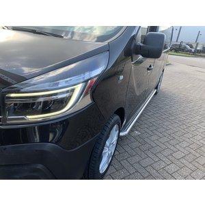 Opel Opel Vivaro|Nissan Sidebars buis 60 mm met RVS trede (set van 2 stuks)