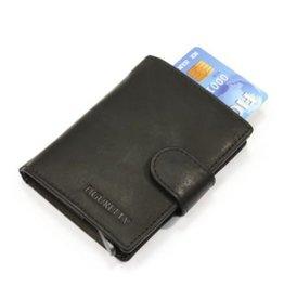 Figuretta kaart beschermer - luxe leer (zwart)