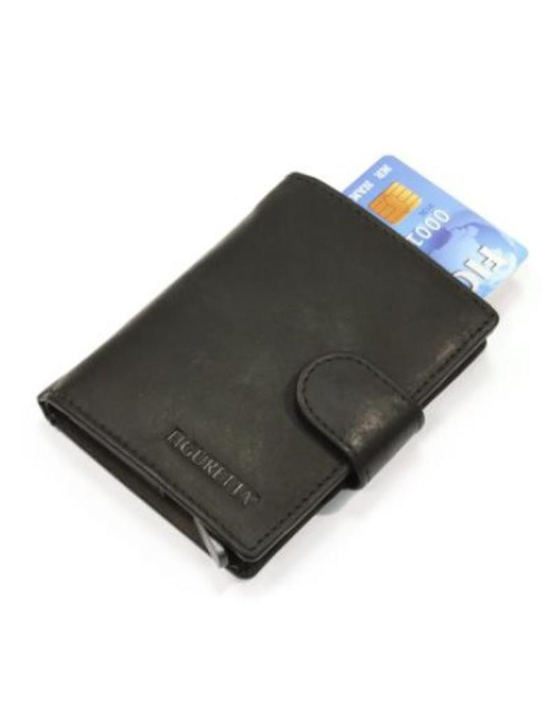 stopcontact speciale sectie kortingscode Figuretta card protector - luxe leather (black)