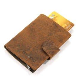 Figuretta kaart beschermer - luxe leer (hunter oily)