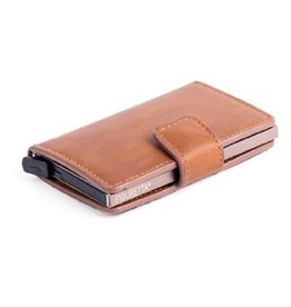 Figuretta card protector - leatherette (cognac)