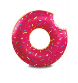 Big Mouth pool float - giant frosted donut (strawberry)