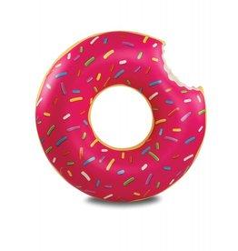 Big Mouth zwemband - grote geglazuurde donut (aardbei)
