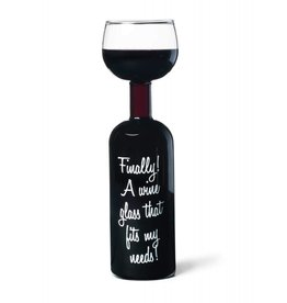 Big Mouth wijnfles / glas - Finally! A wine glass that fits my needs!