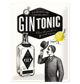 Nostalgic Art hangbord - gin tonic (large)